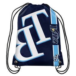 Tampa Bay Rays MLB Big Logo Side Stripe Drawstring Backpack