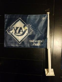 TAMPA BAY RAYS MLB CAR WINDOW FLAG RICO INDUSTRIES BRAND NEW
