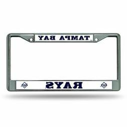 Tampa Bay Rays MLB Chrome Metal License Plate Frame