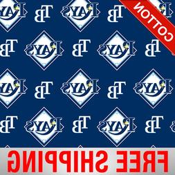 "Tampa Bay Rays MLB Cotton Fabric - 58"" Wide - Style# 6656 -"