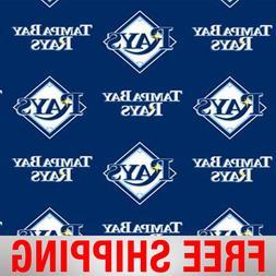 "Tampa Bay Rays MLB Fleece Fabric - 60"" Wide - Style# 6577 -"