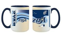 Tampa Bay Rays MLB Full Wrap 15oz Jumbo Coffee Mug FREE SHIP