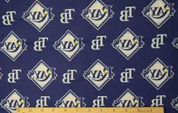 Tampa Bay Rays MLB Logo and Name Cotton Fabric-$8.99/yard