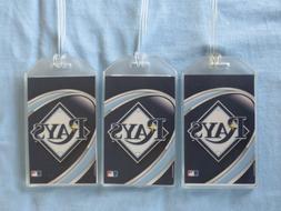 TAMPA BAY RAYS MLB LUGGAGE TAGS 3-TAG SET - VORTEX - BASEBAL