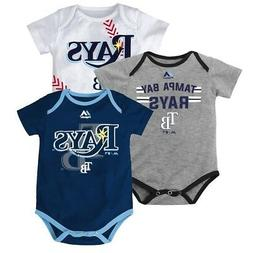 "Tampa Bay Rays MLB Majestic Infant ""Three Strikes!"" 3 Piece"