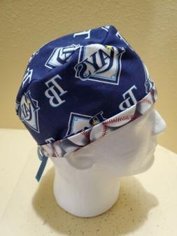 Tampa Bay Rays MLB Men's Skull/Chemo Surgical Scrub Hat/Cap