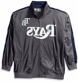 Tampa Bay Rays MLB Mens Licensed  Full Zip Charcoal Track Ja