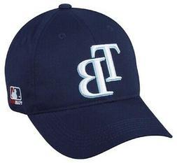 Tampa Bay Rays MLB OC Sports Navy Blue Hat Cap TB Logo Adult