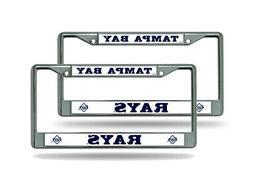 Tampa Bay Rays MLB  Chrome Metal License Plate Frames
