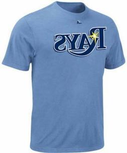 Tampa Bay Rays MLB Majestic Wordmark Blue T Shirt Big & Tall