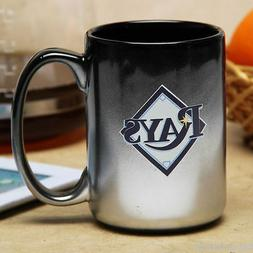 Tampa Bay Rays Mug Black Chrome Coffee Mug 15 oz.