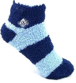 Tampa Bay Rays Navy and Light Blue Fuzzy Quarter Socks