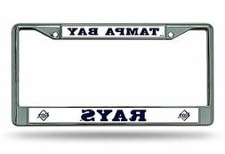 Tampa Bay Rays New Design Chrome Frame Metal License Plate T