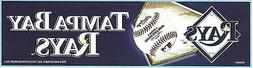 TAMPA BAY RAYS OFFICIAL BUMPER STICKER DECAL