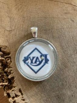 Tampa Bay Rays Pendant/ Charm/ Necklace/ Tampa Florida/ Base