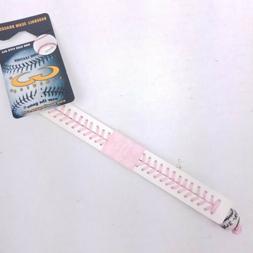 Tampa Bay Rays Pink Argyle Baseball Seam Bracelet MLB