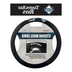 Tampa Bay Rays Poly Suede Steering Wheel Cover  Car Truck Au