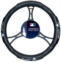 Tampa Bay Rays Premium Rubber Grip Black Steering Wheel Cove