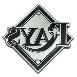Tampa Bay Rays Premium Solid Metal Chrome Raised Auto Emblem