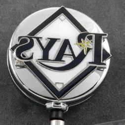 Tampa Bay Rays Retractable Badge Reel Metal Chrome Security