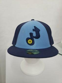 Tampa Bay Rays Throwback Fitted Hat New Era 59fifty Size 7 5