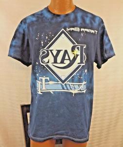 Tampa Bay Rays Tie Dye T - Shirt MLB Blue Large Baseball Uni