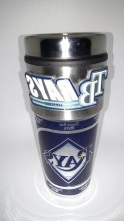 Tampa Bay Rays Travel Tumbler 16 oz Stainless Steel Mug Logo