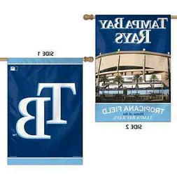 """TAMPA BAY RAYS TROPICANA FIELD 28""""X40"""" DOUBLE SIDED BANNER F"""