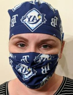 Tampa Bay Rays Unisex Surgical Scrub Cap With Ear Saver Butt