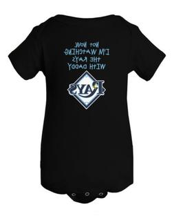 Tampa Bay Rays Watching With Daddy Baby Short Sleeve Bodysui