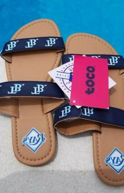FOCO Tampa Bay Rays Women's Double-Strap Sandals Small
