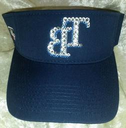 Tampa Bay Rays Womens Rhinestone Bling MLB Baseball Visor ~N