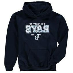 Stitches Tampa Bay Rays Youth Navy Property Of Team Hoodie