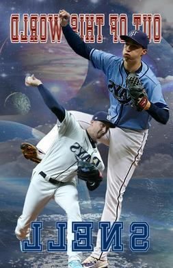 Tampa Bay RaysTampa Bay Rays Lithograph print of  Blake Snel