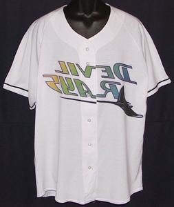 Vintage 90s Tampa Bay DEVIL RAYS RUSSELL JERSEY SHIRT Thin N