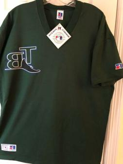 Vintage Russell Athletic Tampa Bay Rays BB Shirt Adult L- ne