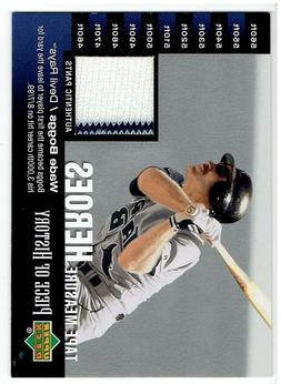Wade Boggs 2002 UD Piece of History Tape Measure Heroes Jers