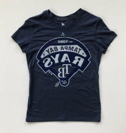 Women's Small Tampa Bay Rays Heather Blue Distressed Majesti